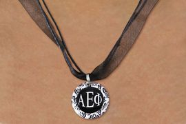 <BR>   NICKEL FREE & ADJUSTABLE NECKLACE !<BR> WHOLESALE FASHION SORORITY JEWELRY <BR>                 EXCLUSIVELY OURS!! <BR>            AN ALLAN ROBIN DESIGN!! <BR>      LEAD, NICKEL & CADMIUM FREE!! <BR>  W21623N - OFFICIAL GREEK SORORITY <BR>      ALPHA EPSILON PHI DISK CHARM ON <Br>        BLACK SHEER CORDED NECKLACE <BR>          FROM $4.16 TO $9.25 �2015