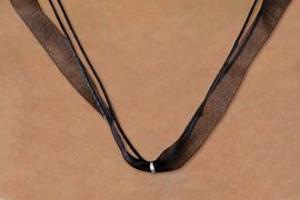 <BR>       WHOLESALE FASHION JEWELRY  <BR>      LEAD, NICKEL & CADMIUM FREE!! <BR>  W21628N - FASIONABLE CUSTOM COLOR <Br>     SHEER RIBBON AND CORD NECKLACE <BR>         CLICK HERE TO SEE ALL 15 COLORS<BR>          FROM $2.81 TO $6.25 �2015
