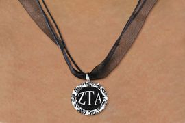 <BR> WHOLESALE FASHION SORORITY JEWELRY <BR>                 EXCLUSIVELY OURS!! <BR>            AN ALLAN ROBIN DESIGN!! <BR>      LEAD, NICKEL & CADMIUM FREE!! <BR>  W21643N - OFFICIAL GREEK SORORITY <BR>   ZETA TAU ALPHA DISK CHARM ON <Br>        BLACK SHEER CORDED NECKLACE <BR>          FROM $4.16 TO $9.25 �2015