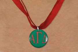 <BR>   NICKEL FREE & ADJUSTABLE NECKLACE !<BR> WHOLESALE FASHION SORORITY JEWELRY <BR>                 EXCLUSIVELY OURS!! <BR>            AN ALLAN ROBIN DESIGN!! <BR>      LEAD, NICKEL & CADMIUM FREE!! <BR>  W21647N - OFFICIAL GREEK SORORITY <BR>ALPHA GAMMA DELTA COLOR DISK CHARM ON <Br>     RED SHEER DUAL CORDED NECKLACE <BR>          FROM $4.16 TO $9.25 �2015