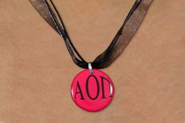 <BR>   NICKEL FREE & ADJUSTABLE NECKLACE !<BR> WHOLESALE FASHION SORORITY JEWELRY <BR>                 EXCLUSIVELY OURS!! <BR>            AN ALLAN ROBIN DESIGN!! <BR>      LEAD, NICKEL & CADMIUM FREE!! <BR>  W21648N - OFFICIAL GREEK SORORITY <BR>ALPHA OMICRON PI COLOR DISK CHARM ON <Br>   BLACK SHEER DUAL CORDED NECKLACE <BR>          FROM $4.16 TO $9.25 �2015