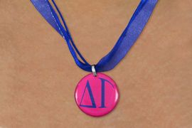 <BR>   NICKEL FREE & ADJUSTABLE NECKLACE !<BR> WHOLESALE FASHION SORORITY JEWELRY <BR>                 EXCLUSIVELY OURS!! <BR>            AN ALLAN ROBIN DESIGN!! <BR>      LEAD, NICKEL & CADMIUM FREE!! <BR>  W21653N - OFFICIAL GREEK SORORITY <BR>      DELTA GAMMA COLOR DISK CHARM ON <Br>  BLUE SHEER DUAL CORDED NECKLACE <BR>          FROM $4.16 TO $9.25 �2015