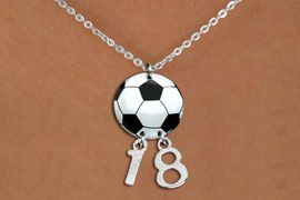 <BR>   NICKEL FREE & ADJUSTABLE NECKLACE !<Br>                  EXCLUSIVELY OURS!!<Br>            AN ALLAN ROBIN DESIGN!!<Br>                 LEAD & NICKEL FREE!! <BR>       THIS IS A PERSONALIZED ITEM <Br>W21701N - LOBSTER CLASP CHAIN <BR>NECKLACE AND SOCCER BALL PENDANT <BR>         WITH YOUR TEAM NUMBER <BR>        FROM $7.65 TO $17.00 �2014