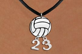 <Br>                  EXCLUSIVELY OURS!!<Br>            AN ALLAN ROBIN DESIGN!!<Br>                 LEAD & NICKEL FREE!! <BR>       THIS IS A PERSONALIZED ITEM <Br>W21730N - BLACK SUEDE LEATHERETTE <BR>NECKLACE AND VOLLEYBALL PENDANT <BR>         WITH YOUR TEAM NUMBER <BR>        FROM $7.65 TO $17.00 �2014