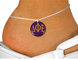 <BR>                  NICKEL FREE & ADJUSTABLE!<bR>      WHOLESALE FASHION SORORITY JEWELRY   <BR>                      EXCLUSIVELY OURS!!   <BR>                 AN ALLAN ROBIN DESIGN!!  <BR>           LEAD, NICKEL & CADMIUM FREE!!   <BR>     W21758SAK - OFFICIAL GREEK SORORITY  <BR>    COLOR DISK CHARM ON A DELICATE CHAIN <Br>        ANKLET FROM $5.90 TO $9.25 �2015