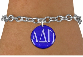 <BR>                                NICKEL FREE!<bR>        WHOLESALE FASHION SORORITY JEWELRY  <BR>                        EXCLUSIVELY OURS!!   <BR>                   AN ALLAN ROBIN DESIGN!!   <BR>             LEAD, NICKEL & CADMIUM FREE!!   <BR>W21766SB - OFFICIAL GREEK LETTER SORORITY  <BR>       COLORFUL DISK CHARM ON TOGGLE CLASP  <Br>CHAIN BRACELET FROM $5.90 TO $9.25 �2015