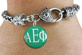 <BR>                               NICKEL FREE!<bR>        WHOLESALE FASHION SORORITY JEWELRY   <BR>                        EXCLUSIVELY OURS!!   <BR>                   AN ALLAN ROBIN DESIGN!!   <BR>             LEAD, NICKEL & CADMIUM FREE!!   <BR> W21769SB - OFFICIAL GREEK LETTER SORORITY  <BR>      COLORFUL DISK CHARM ON HEART-LOBSTER  <Br>  CLASP BRACELET FROM $5.90 TO $9.25 �2015
