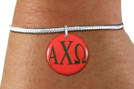 <BR>                                NICKEL FREE!<bR>        WHOLESALE FASHION SORORITY JEWELRY   <BR>                        EXCLUSIVELY OURS!!   <BR>                   AN ALLAN ROBIN DESIGN!!   <BR>             LEAD, NICKEL & CADMIUM FREE!!   <BR> W21770SB - OFFICIAL GREEK LETTER SORORITY <BR>     COLORFUL DISK CHARM ON DELICATE SNAKE <Br>  CHAIN BRACELET FROM $5.90 TO $9.25 �2015