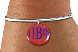 <BR>                  NICKEL FREE & ADJUSTABLE!<bR>        WHOLESALE FASHION SORORITY JEWELRY   <BR>                        EXCLUSIVELY OURS!!   <BR>                   AN ALLAN ROBIN DESIGN!!   <BR>             LEAD, NICKEL & CADMIUM FREE!!   <BR> W21771SB - OFFICIAL GREEK LETTER SORORITY <BR>         COLORFUL DISK CHARM ON OPEN SOLID WIRE <Br>ADJUSTABLE BRACELET FROM $5.90 TO $9.25 �2015