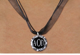 <BR>   NICKEL FREE & ADJUSTABLE NECKLACE !<BR>    CUSTOM FASHION SORORITY JEWELRY <BR>                 EXCLUSIVELY OURS!! <BR>            AN ALLAN ROBIN DESIGN!! <BR>      LEAD, NICKEL & CADMIUM FREE!!  <BR>  W21791N - OFFICIAL GREEK SORORITY  <BR> B&W FLORAL PATTERNED DISK CHARM ON  <Br>CUSTOM COLOR SHEER DUAL CORDED NECKLACE <BR>          FROM $4.16 TO $9.25 �2015