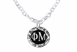 <bR>     WHOLESALE FASHION SORORITY JEWELRY   <BR>                     EXCLUSIVELY OURS!!   <BR>                AN ALLAN ROBIN DESIGN!!   <BR>          LEAD, NICKEL & CADMIUM FREE!!   <BR>     W21793SN - OFFICIAL B&W FLORAL GREEK <BR>LETTER SORORITY DISK CHARM ON TOGGLE CLASP <Br>CHAIN NECKLACE FROM $5.90 TO $9.25 �2015