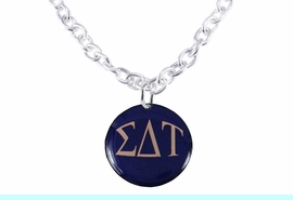 <bR>     WHOLESALE FASHION SORORITY JEWELRY   <BR>                     EXCLUSIVELY OURS!!   <BR>                AN ALLAN ROBIN DESIGN!!   <BR>          LEAD, NICKEL & CADMIUM FREE!!   <BR>     W21794SN - OFFICIAL COLORFUL GREEK <BR>LETTER SORORITY DISK CHARM ON TOGGLE <Br>CLASP NECKLACE FROM $5.90 TO $9.25 �2015