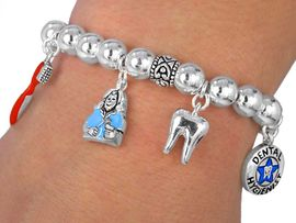 W2458B- NEW! DENTAL HYGIENIST<BR>         BRACELET AS LOW AS $9.68