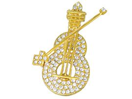 W2631P-ELEGANT MUSICAL<br> INSTRUMENT FASHION PIN<br>           AS LOW AS $6.75