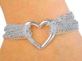 <Br> W2823B - DESIGNER TIFFANY INSPIRED<BR>HEART BRACELET FROM $4.50 TO $10.00