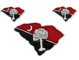 W2980PE-SOUTH CAROLINA PIN/<BR>             SLIDER EARRING SET<BR>                 AS LOW AS $2.65