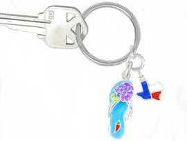 W3106KC-NEW BLUEBONNET FLIP<BR>FLOP KEYCHAIN  AS LOW AS $1.99