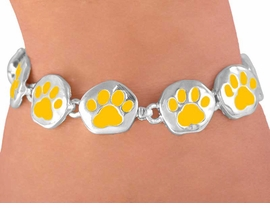 <br>W3114B-NEW! VIBRANT YELLOW<BR>     MAGNETIC  PAW BRACELET<BR>       FROM $5.63 TO $12.50