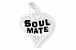 "W342SC - ""SOUL MATE"" HEART <BR> <FONT size=""2"">Buy 1-2 for $4.05 Each<br>Buy 3-5 for $3.65 Each<br>Buy 6-11 for $3.55 Each<br>Buy 12-23 for $3.45 Each<br>Buy 24-49 for $3.35 Each<br>Buy 50 or More for $3.25 Each<br>Buy 100 or More for $2.35 Each</font>"