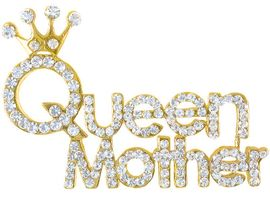 "<br>W3651P-ELEGANT SWAROVSKI CRYSTAL<br> ""QUEEN MOTHER"" PIN AS LOW AS $5.15"