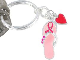 <BR>W3692KC-NEW GENUINE CRYSTAL<BR>      BREAST CANCER AWARENESS<BR>    KEYCHAIN FROM $1.99