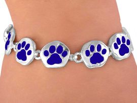 <br>     W3881B - BOLD BLUE<BR>MAGNETIC  PAW BRACELET<BR>     FROM $5.63 TO $12.50