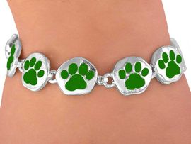 <br>  W3882B - GRASSY GREEN<BR> MAGNETIC  PAW BRACELET<BR>       FROM $5.63 TO $12.50
