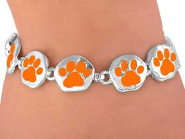 <br>    W3884B - ORANGE PAW<BR>MAGNETIC  BRACELET FROM<Br>               $5.63 TO $12.50