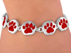 <br>      W3886B - BRIGHT RED<BR> MAGNETIC  PAW BRACELET<BR>        FROM $5.63 TO $12.50