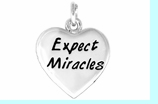 """W403SC - """"EXPECT MIRACLES"""" HEART   $3.68 Each"""