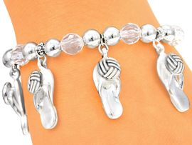 <br>W4041B - FLIP-FLOP VOLLEYBALL<br>        STRETCH CHARM BRACELET<bR>                FROM $3.94 TO $8.75
