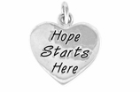 "W443SC - ""HOPE STARTS HERE"" HEART  ©2011  $5.68 EACH"