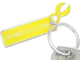 "<BR>     W4450KC - ""PROMISE OF A CURE""<BR>       YELLOW AWARENESS KEY CHAIN<BR>AS LOW AS $2.50! EXCLUSIVELY OURS!"