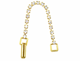 "W4557JP - 3"" GOLD FINISH EXTENDER<BR>WITH CRYSTALS FROM $3.00 TO $7.50"