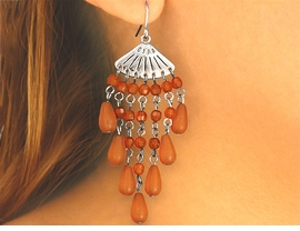 W4647EA - NEW! 2-COLOR CHANDELIER<BR>FISHHOOK WIRE EARRING ASSORTMENT<bR>                        AS LOW AS $2.90
