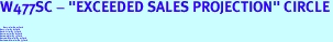 """W477SC - """"EXCEEDED SALES PROJECTION"""" CIRCLE<BR> <FONT size=""""2"""">Buy 1-2 for $4.05 Each<br>Buy 3-5 for $3.65 Each<br>Buy 6-11 for $3.55 Each<br>Buy 12-23 for $3.45 Each<br>Buy 24-49 for $3.35 Each<br>Buy 50 or More for $3.25 Each<br>Buy 100 or More for $2.35 Each</font>"""