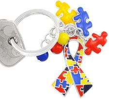<br>  W4962KC - NEW! SILVER FINISH<BR>   AUTISM AWARENESS RIBBON &<BR>PUZZLE PIECE CHARMS KEY CHAIN<br>CADMIUM, LEAD, & NICKEL FREE<br>             FROM $5.75 TO $10.00<BR>                               &#169;2004