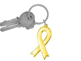 <br>    W5285KC - GOLD & SILVER FINISH<BR>            GOLD AWARENESS RIBBON<bR>   KEY CHAIN&#169;2005 AS LOW AS $2.65<BR>EXCLUSIVELY OURS! WE ARE THE ONLY<br>  MANUFACTURER OF THIS KEYCHAIN!