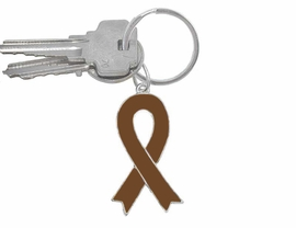 <br>W5287KC - BROWN AWARENESS RIBBON <BR>      KEYCHAIN&#169;2005 AS LOW AS $1.99<br>   EXCLUSIVLEY OURS! WE ARE THE ONLY<BR>     MANUFACTURER OF THIS KEYCHAIN!