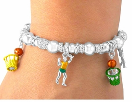 <Br>    W5470B - BASKETBALL MULTI<bR>COLOR STRETCH CHARM BRACELET<BR>              FROM $5.06 TO $11.25
