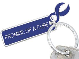 "<Br>  W5478KC - BLUE AWARENESS RIBBON<BR>""PROMISE OF A CURE"" KEYCHAIN&#169;2005<bR>                           AS LOW AS $2.50<br>   EXCLUSIVELY OURS! WE ARE THE ONLY<bR>     MANUFACTURER OF THIS BRACELET!"