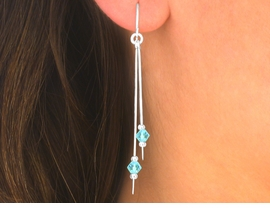 "<br>  W5511EA - 3-COLOR ""STERLING SILVER""<Br>     FISHHOOK WIRE FACETED BEAD DROP<Br>  EARRING ASSORTMENT AS LOW AS $5.25"