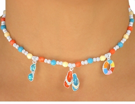 "<br> W5587NBRA - ADORABLE 5-COLOR<br>    CHILDREN'S LEAD & NICKEL FREE<Br>""BEACH FUN"" NECKLACE, BRACELET<br>            & RING SET ASSORTMENT<Br>                    AS LOW AS $2.05"