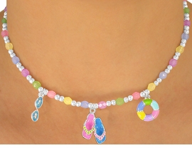 "<br> W5587NBRA - ADORABLE 5-COLOR<br>    CHILDREN'S LEAD & NICKEL FREE<Br>""BEACH FUN"" NECKLACE, BRACELET<br>            & RING SET ASSORTMENT<Br>                FROM $3.35 TO $6.75"