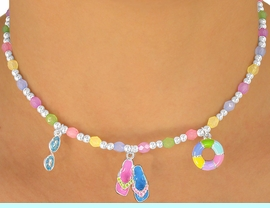 """<br> W5587NBRA - ADORABLE 5-COLOR<br>    CHILDREN'S LEAD & NICKEL FREE<Br>""""BEACH FUN"""" NECKLACE, BRACELET<br>            & RING SET ASSORTMENT<Br>                FROM $3.35 TO $6.75"""