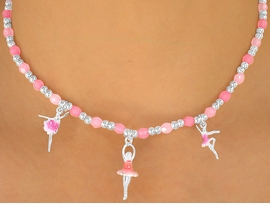 <br>             W5629NBR - ADORABLE <Br>   CHILDREN'S NICKEL & LEAD FREE<Br>      BALLERINA CHARM NECKLACE <br>       AS LOW AS $3.98