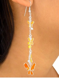 "<br>   W5762EA - ""FAMILY OF BUTTERFLIES""<BR>6-COLOR  EPOXY BUTTERFLY CHAIN DROP<br> EARRING ASSORTMENT AS LOW AS $3.45"