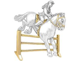 """W6258P - TWO-TONE """"HORSE HURDLE""""<bR>                    PIN AS LOW AS $6.90"""