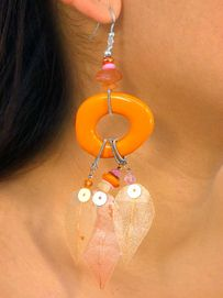 """W7300EA - ACRYLIC STONE DROP &<br>  SUSPENDED, DYED """"GRASS LEAF""""<br>             EARRING ASSORTMENT<bR>                    AS LOW AS $3.05"""