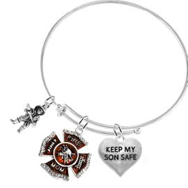 <BR>                              Firefighter's Moms, Keep My Son Safe, <BR>                            Adjustable Bracelet, Hypoallergenic, Safe <BR>                                  Nickel, Lead, Cadmium Free �2016<BR>                                    W797-1718-1886B9 - $9.68 Each